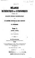 Melanges Mathematiques Et Astronomiques PDF