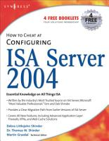 How to Cheat at Configuring ISA Server 2004 PDF