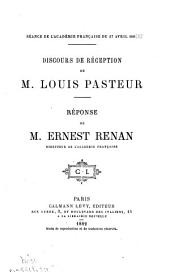 Discours de réception de Louis Pasteur