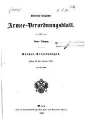Verordnungsblatt für das k. u. k. Heer: Normal-Verodnungen, Band 10