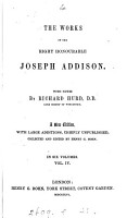 The works of     Joseph Addison  with notes by R  Hurd PDF