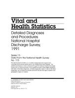 Detailed Diagnoses and Procedures  National Hospital Discharge Survey PDF