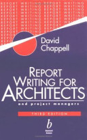 Report Writing for Architects and Project Managers