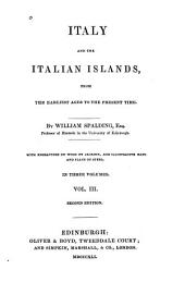 Italy and the Italian islands: from the earliest ages to the present time, Volume 3