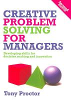 Creative Problem Solving for Managers PDF