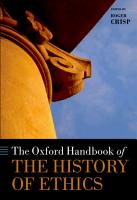 The Oxford Handbook of the History of Ethics PDF