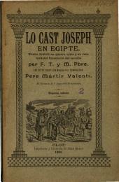 Lo Cast Joseph en Egipte: drama bíblich en quatre actes y en vers