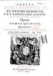 Sancti Bonaventurae Opera