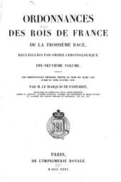 Ordonnances des roys de France de la troisième race: Ordonnances rendues depuis le mois de mars 1482 jusqu'au mois d'avril 1486. 1835