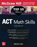 Top 50 ACT Math Skills, Third Edition