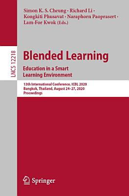 Blended Learning  Education in a Smart Learning Environment PDF