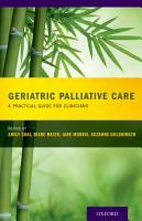 Geriatric Palliative Care PDF