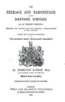 The Peerage and Baronetage of the British Empire as at Present Existing PDF