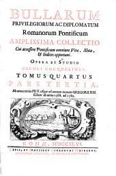 Bullarum: privilegiorum ac diplomatum romanorum pontificum amplissima collectio, Volume 4, Part 3