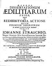 Dissertationes aedilitiae: Quae est de redhibitoria actione. Prior