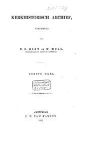 Kerkhistorisch archief: Volume 1