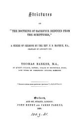 Strictures on 'The doctrine of sacrifice deduced from the Scriptures', by F.D. Maurice