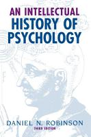 An Intellectual History of Psychology PDF