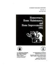 Homeowners, Home Maintenance, and Home Improvements, 1991
