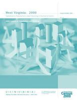 Census of population and housing  2000   West Virginia Summary Population and Housing Characteristics PDF