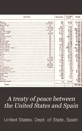 A treaty of peace between the United States and Spain: Message from the President of the United States transmitting a treaty of peace between the United States and Spain, signed at the city of Paris on December 10, 1898 ... [With accompanying papers and map]
