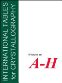 International Tables for Crystallography, 9 Volume Set
