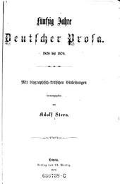 Fünfzig Jahre deutscher Prosa: 1820 bis 1870