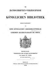 Verzeichnis der Sanskrit Handschriften: Bd. 1