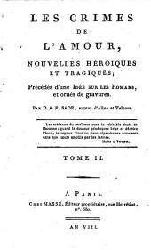 Les crimes de l'amour: nouvelles heroiques et tragiques, précédés d'une idée sur les romans et ornés de gravures, Volume2