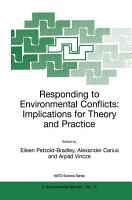 Responding to Environmental Conflicts  Implications for Theory and Practice PDF