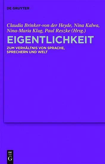 Eigentlichkeit PDF