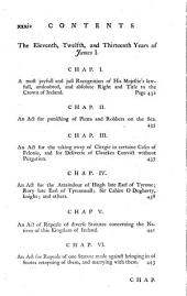 The Statutes at Large, Passed in the Parliaments Held in Ireland : from the Third Year of Edward the Second, A.D. 1310, to the Twenty-sixth Year of George the Third, A.D. 1786 Inclusive : with Marginal Notes, and a Compleat Index to the Whole : Published by Authority: Volume 1