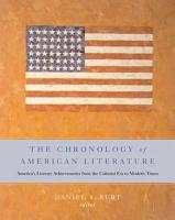 The Chronology of American Literature PDF
