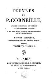 Oeuvres de P. Corneille: Le Cid. Horace. Cinna
