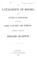 A Catalogue of Books     offered for sale by B  Quaritch PDF
