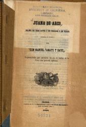 Juana de Arco: drama en tres actos y un prologo y en verso. (Imitacion de Schiller)