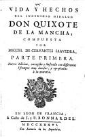 Vida y hechos del ingenioso hidalgo don Quixote de la Mancha PDF