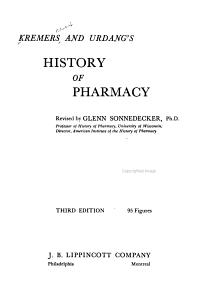 Kremers and Urdang s History of Pharmacy PDF