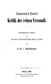 Immanuel Kant's Kritik der reinen Vernunft