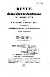 Revue étrangère et française de législation et d'économie politique: Volume2