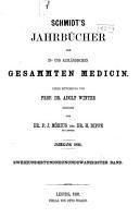 Schmidt s Jahrb  cher der in und ausl  ndischen gesammten Medicin PDF