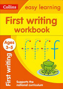 Collins Easy Learning Preschool   First Writing Workbook Ages 3 5  New Edition