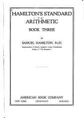 Hamilton's Standard Arithmetic: Book One-three, Book 3