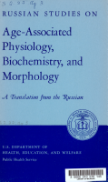 Russian Studies on Age associated Physiology  Biochemistry  and Morphology  a Translations from the Russian PDF
