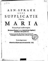 Aen-sprake ende supplicatie gedaen van Maria princes royal van Brittangien. Aen haren broeder Carolus [...]. In faveur vande ho: mo: heeren Staten Generael [...] den 14 decemb. 1660