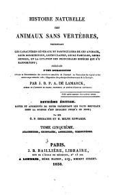Histoire naturelle des animaux sans vertèbres: Arachnides, crustacés, annelides, cirrhipèdes. 1838