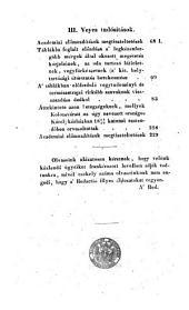 Orvosi Tár. Havonként kiadják Bugát Pál ... és Schedel Ferencz (etc.)