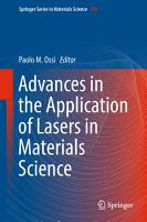 Advances in the Application of Lasers in Materials Science PDF