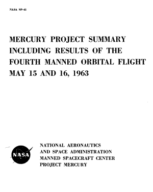 Mercury Project Summary including results of the fourth manned orbital flight  May 15 and 16  1963 PDF