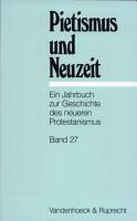 Pietismus Und Neuzeit   2001 PDF